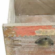 Planter wooden drawer Antique 20cm / 15cm
