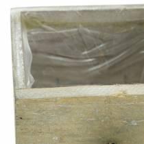 Planter wooden drawer antique for planting 15/12 / 9cm 3pcs
