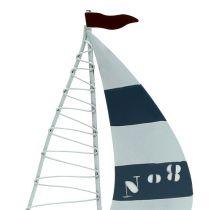 Sailboat 11cm x 19cm white-blue 3pcs