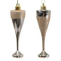 Champagne glasses for hanging light gold 10cm 8pcs