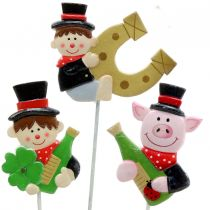 New Year's Eve decorations on a stick 5cm 12pcs