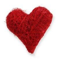 Sisal Hearts 5-6 cm Red 24p