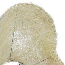 Sisal cuff heart bleached 27cm 1pc