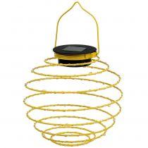 Solar Garden Lamp Yellow 22cm with 25LEDs Warm White
