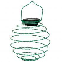 Solar garden light green 22cm with 25LEDs warm white