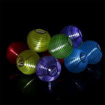 Solar Lampionkette LED colorful 4,5m 10 bulbs cold white
