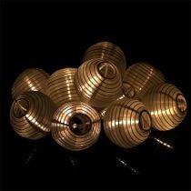 Solar lantern chain LED 4.5m white 10 bulbs