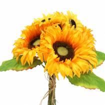 Decorative bouquet sunflower bunch yellow 30cm