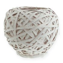 Spank basket round white 25cm