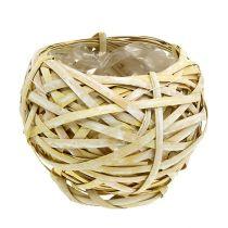 Spanking basket round yellow Ø18cm H16cm