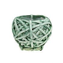Spanking basket round green Ø15cm H14cm