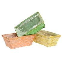 Spank basket set square multicolored 20 / 11cm 8pcs