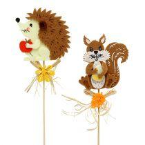 Plug hedgehog, squirrel L30cm 12 pieces