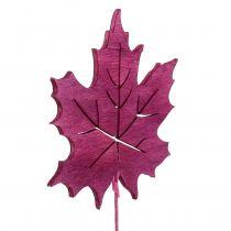 Deco plug sheet Pink, Green, Bordeaux 8cm 18pcs