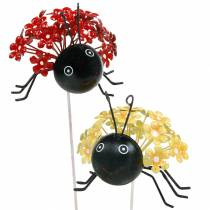 Garden plug flower ladybug red, yellow assorted 2pcs