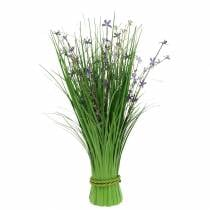 Decorative standing bouquet with meadow flowers artificial lilac 51cm