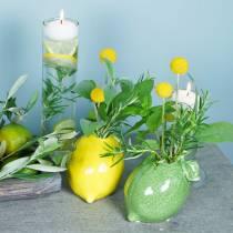 Stoneware vase lime green 10cm