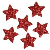 Star glitter 1,5cm for spreading red 144pcs