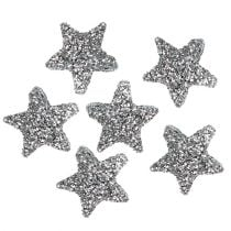 Star glitter 1,5cm to sprinkle silver 144pcs