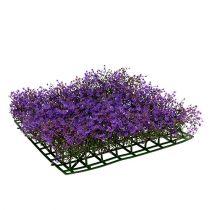 Star flower mat 25cm x 25cm purple