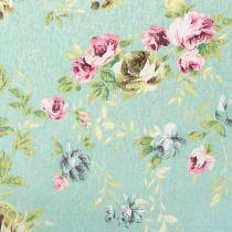 Decoration fabric flowers green 30cm x 3m
