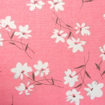 Deco fabric flowers Pink 30cm x 3m