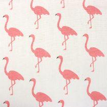 Deco fabric Flamingo White-Pink 30cm x 3m