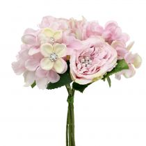 Bouquet pink with pearls 29cm
