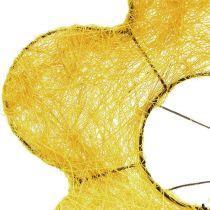 Sisal cuff yellow Ø20cm flower cuff 8pcs
