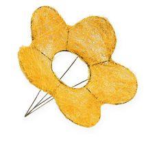 Sisal Flower Cuff Yellow Ø25cm 6pcs