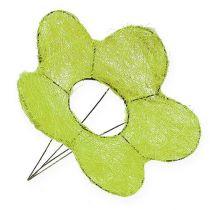 Sisal Cuff Flower Green Ø25cm 6pcs