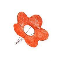 Sisal Flower Cuffs Orange Ø15cm 10pcs