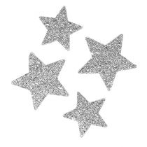 Stars for scattering silver sort. 4-5cm 40p