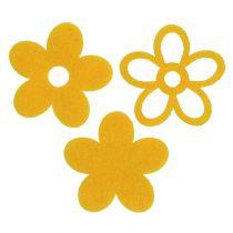 Litter-Deco Feltflower Yellow assorted 4cm 72pcs