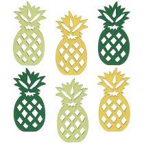 Decoration to control wood pineapple 3,5cm 72pcs