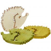 Hedgehog wooden assorted 4cm 72pcs