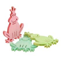 Scatter Decoration Wood Frog Multicolored Assorted 4cm 72pcs