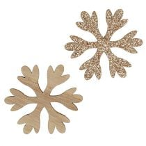 Snowflake Nature, Mica Mix Ø4cm 72pcs