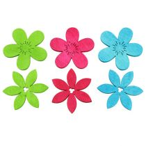 Scatter Decoration Wooden flowers Multicolored Assorted Ø4cm
