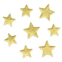 Decoration to control star mix 4-5cm gold matt 72pcs