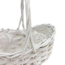 Scattering basket white 20cm x 15cm 1pc
