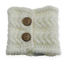 Knitting tube 10cm x 11cm White 4pcs
