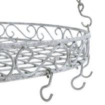 Decorative Tray with Hook Gray Ø44,5cm