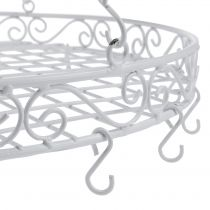 Tray with hook Ø44,5cm for hanging white