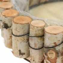Tray, natural birch wood, round, Ø24cm