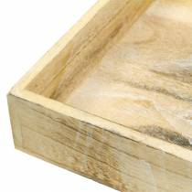 Wooden tray square white washed 30 × 30cm / 25 × 25cm set of 2