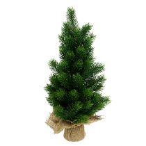 Christmas tree in a jute sack 47cm
