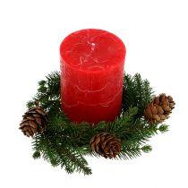 Fir-wreath with cones Ø11cm 6pcs