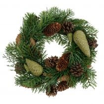 Fir-wreath with cones green Ø30cm