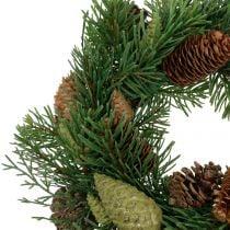 Fir-wreath with cones green Ø30cm